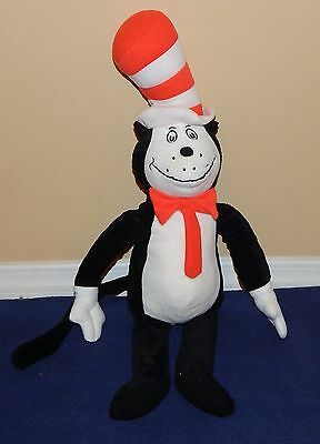 "21"" Kohls Dr Seuss CAT IN THE HAT Soft Plush Doll suess 2012 2013"
