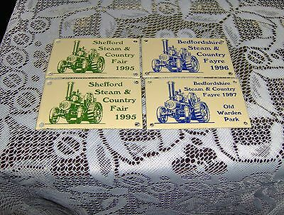 Steam And Country Fair Plaques Shefford And Bedfordshire