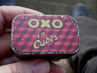 Vintage Early 1900s Small OXO Tin  - Possibly Sample Size