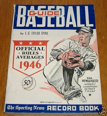 the sporting news baseball guide 1946  hal newhouser