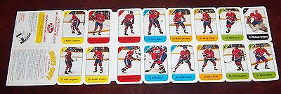 Post cereal panel 1982-83 Montreal Canadians