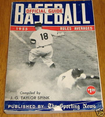 the sporting news baseball guide 1955 play at the plate