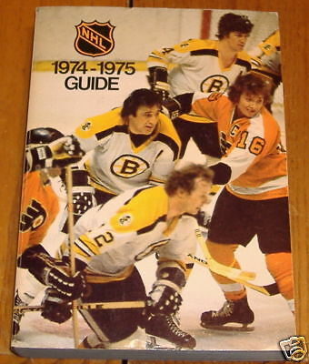 NHL official guide1974-75 bobby orr  phil esposito