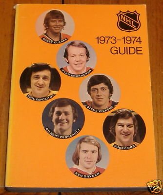 NHL official guide1973-74 bobby orr/ dryden/ esposito