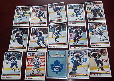 Toronto Maple Leafs team Panini stickers 1990-91  assorted players