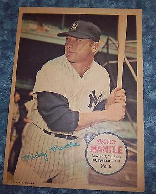 Topps poster inserts 1967 Mickey Mantle # 6 set # 2