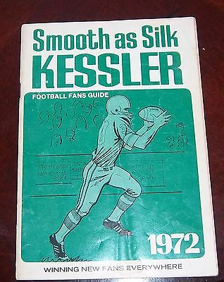 Kessler Football Fans Guide 1972