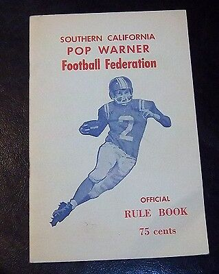 POP WARNER Football  Federation Official Rule Book guide  1960's
