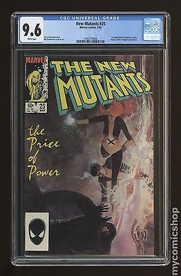 New Mutants (1983 1st Series) #25 CGC 9.6 (1445775004)