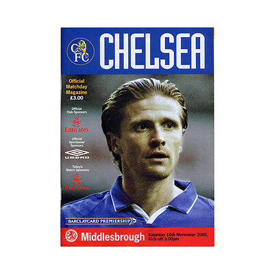 Chelsea V Middlesbrough - 16 Nov 2002