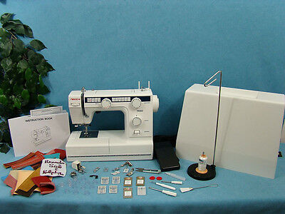 INDUSTRIAL STRENGTH Heavy Duty Sewing Machine + EXTENSION TABLE Sews UPHOLSTERY