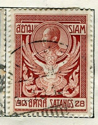 THAILAND;  1909 early Satangs issue fine used 28s.  value