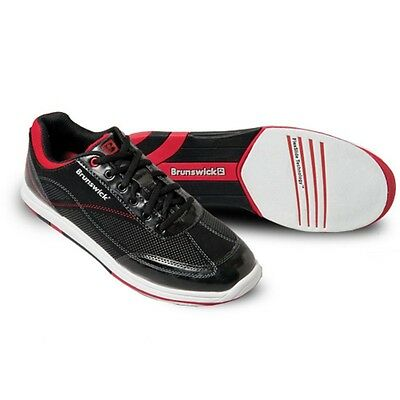 Mens Brunswick TITAN Bowling Shoes NEW  Color Black/Red Sizes 7 - 14