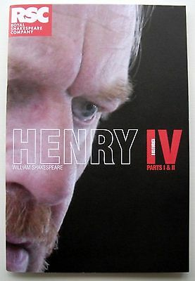 Rsc 2007-8 Henry Iv Parts 1&2 Shakespeare Theatre Programme David Warner
