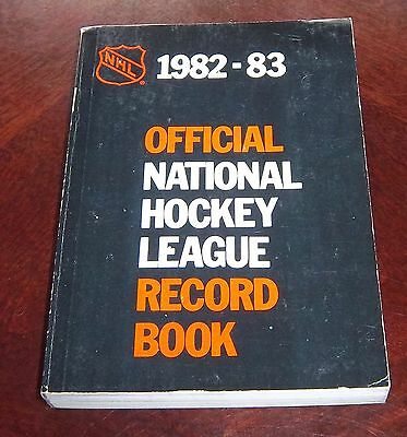 Official NHL Hockey Record Book 1982-83