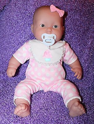 Adorable Berenguer Cloth & Vinyl Chubby Baby Doll W/ Pacifier - 20""