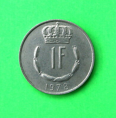 Luxembourg 1 Franc Coin 1978