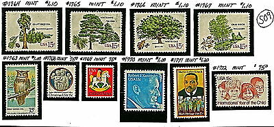 US 10 TREES, KENNEDY, ML KING Stamps 1978-79(36-37 Yrs Old)MNH OG See Descr S09