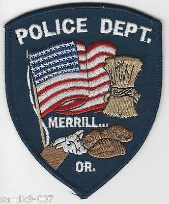 US FLAG Merrill Police State Oregon OR Subdued