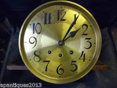 Original 1930s Longcase Grandfather Clock Spring Driven Chimeing Movement+Dial