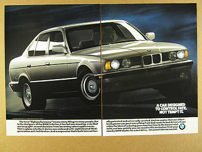 1990 BMW E34 5-Series Sedan color photo vintage print Ad