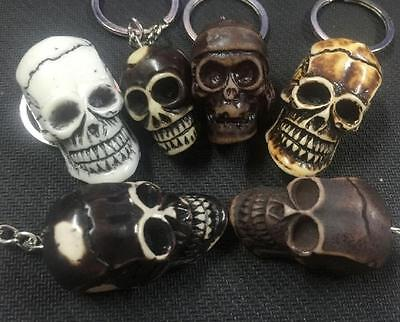 wholesale 18pc punk style skull head cool biker key-chains