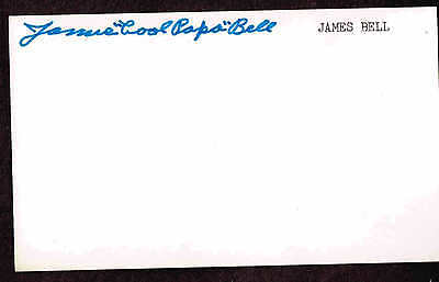 James Cool Papa Bell  Signed Index Card Auto Psa/dna  C00102