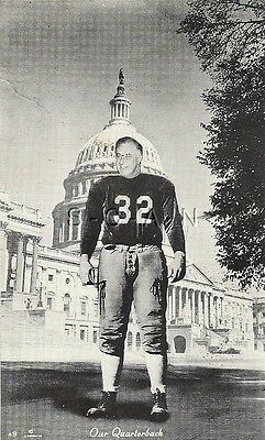 WWII Vintage Propaganda PC- Football Quarterback- FDR Roosevelt- US Navy PM 1945