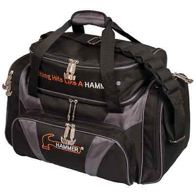 Hammer 2 Ball Deluxe Tote Bowling Bag with shoe pocket Black/Carbon