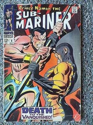 Sub-Mariner #6,Marvel Comics 1968,12 cent Silver Age Comic