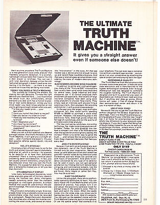 Original Print Ad-1979 THE ULTIMATE TRUTH MACHINE-It gives you a straight answer