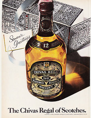 Original Print Ad-1979 THE CHIVAS REGAL OF SCOTCHES-Seasons Greetings/Gift Box