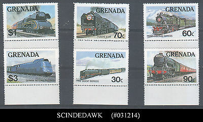 Grenada - 1982 Famous Trains Of The World / Railway - 6V- Mint Nh
