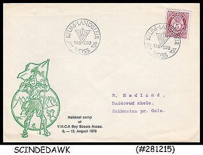 Norway - 1970 National Camp Of Ymca Boy Scouts Association Cover With Special Ca
