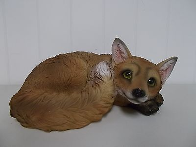 G54482 Laying Fox George Chen Statue Figurine Decoration