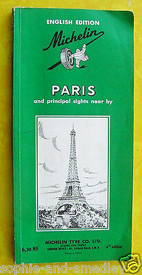 1960 English Edition - Michelin Guide to PARIS, France