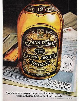Original Print Ad-1979 CHIVAS REGAL-Tax Theme/Since you have to pay the penalty…