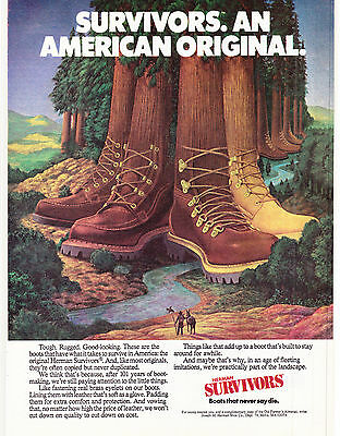 Original Print Ad-1979 AMERICA BEGINS SEARCH FOR SURVIVORS-Herman Boots as trees