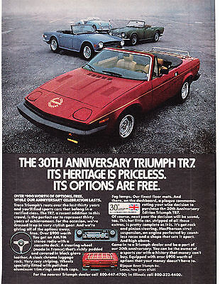 Original Print Ad-1980 30TH ANNIVERSARY TRIUMPH TR7-IT'S HERITAGE IS PRICELESS…