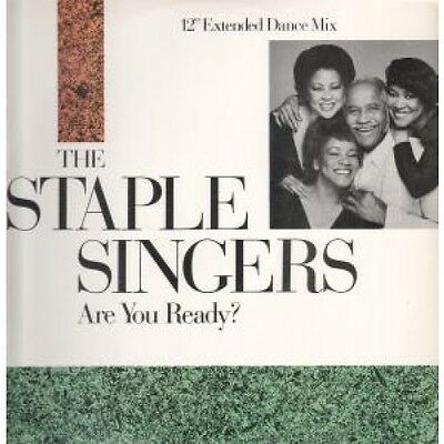"""STAPLE SINGERS Are You Ready 12"""" VINYL US Private 1985 2 Track Featuring"""