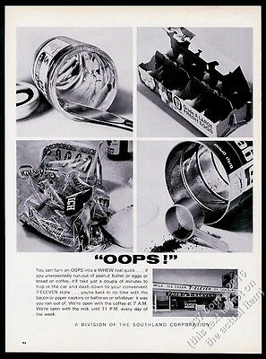 1966 7-11 7-Eleven convenience store & products photo vintage print ad