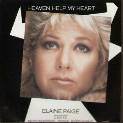 """ELAINE PAIGE Heaven Help My Heart 7"""" VINYL UK Rca 1985 B/W Argument From Chess"""