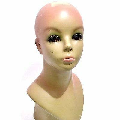 """16"""" Tall Female Woman Mannequin Lady Head Bust Hat Stand Wig Holder Shop Display"""