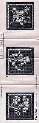 BEDSPREAD CROCHET Patterns VINTAGE Filet Square COUNTRY GENTLEMAN 1946