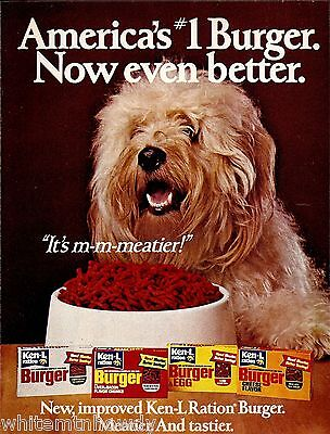 1978 OLD ENGLISH SHEEPDOG Vintage Ken-L Ration Dog Food Print AD
