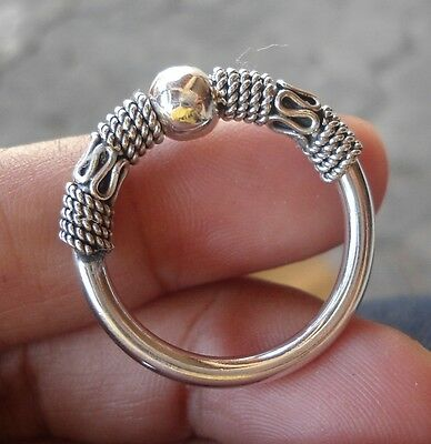 925 Sterling Silver-IL68-Balinese Handcrafted Ring Unique Style Size 9
