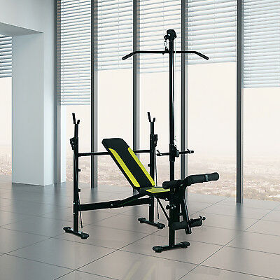 Weight Bench Body Training Set Multi Gym Workout Fitness Olympic Adjustable