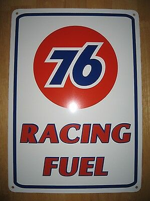 UNION 76 Racing Fuel Metal Gas Pump SIGN  Service Station UniCoal 76 Garage 7day