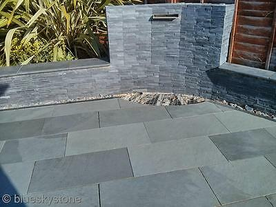 Brazilian Grey Slate Paving Patio & Garden Slabs - £28/m2 delivered - All sizes