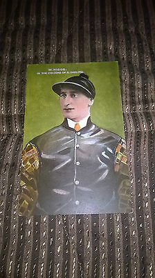 Postcard : Victorian Jockey W. Higgs In  The Colours Of Sam Darling